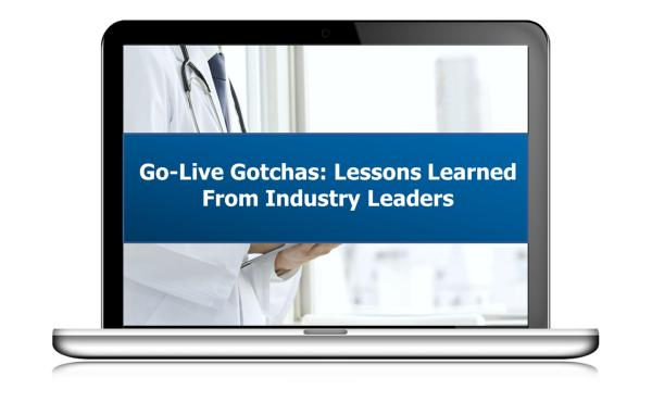 View the Go-Live Webinar