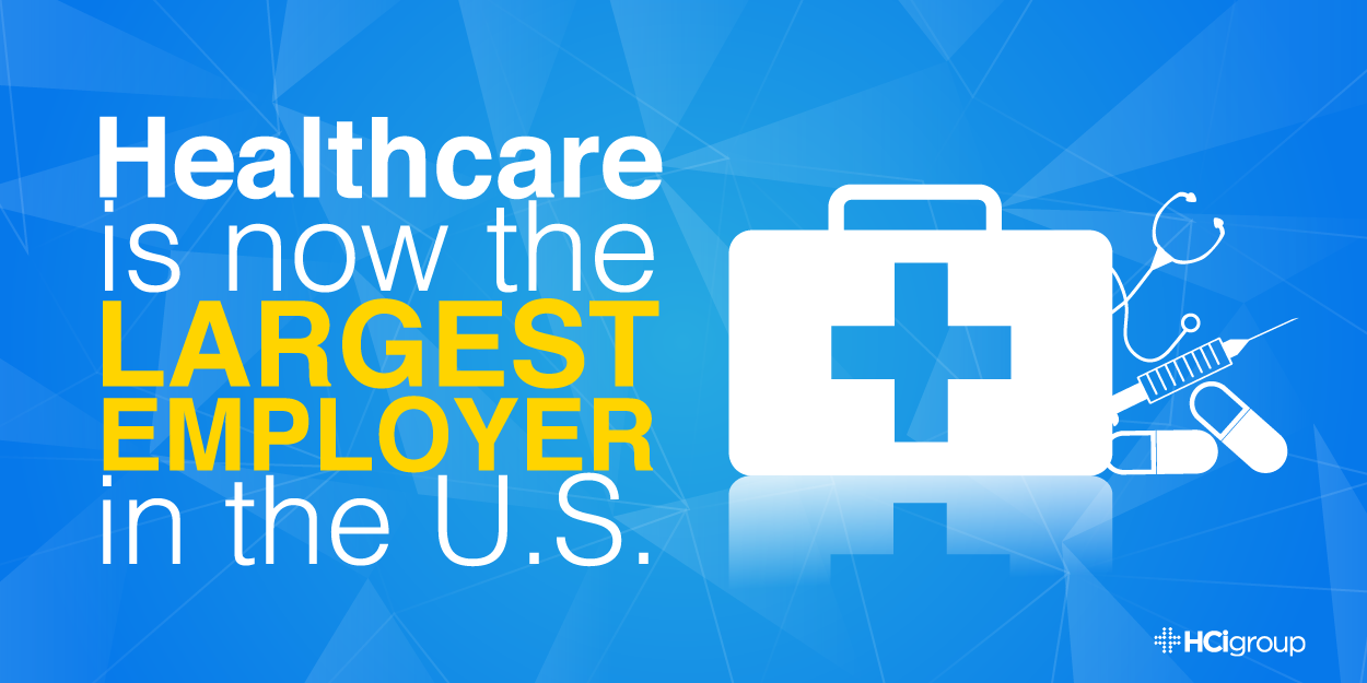 Healthcare is the largest employeer in the U.S.