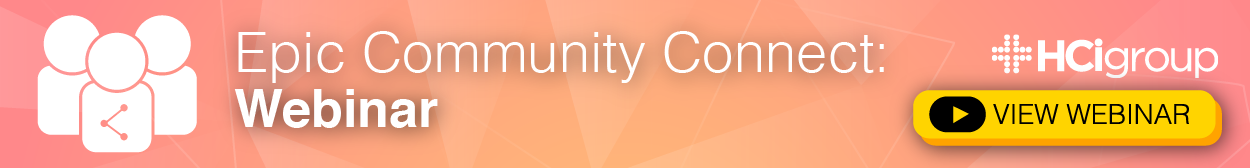 Epic Community Connect Webinar