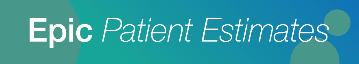 Patient Estimates