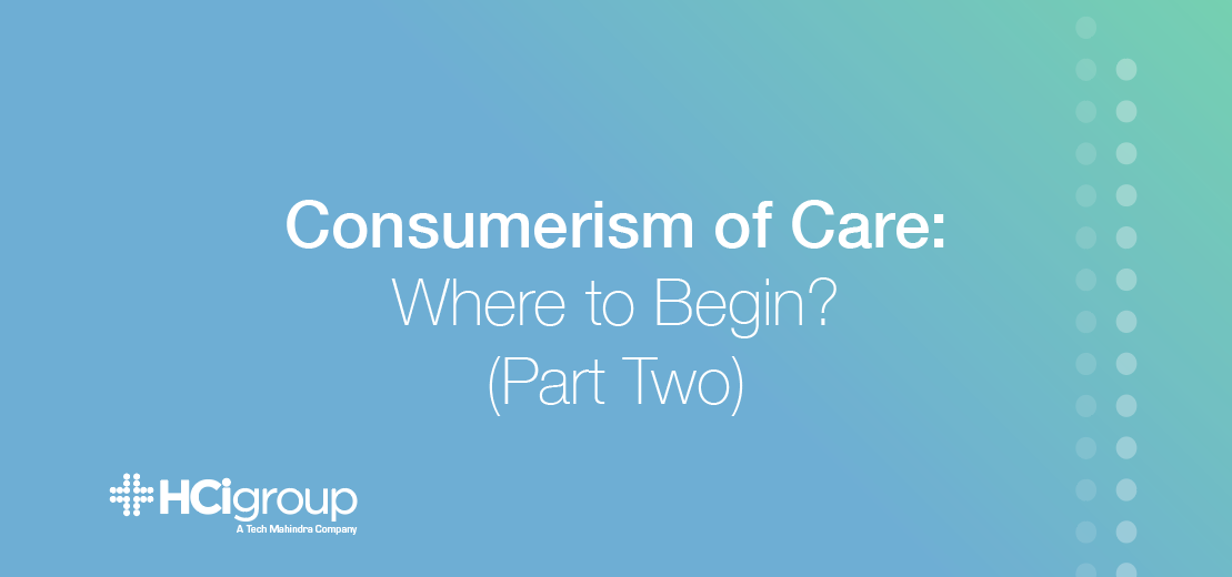 Consumerism of Care Part Two Title