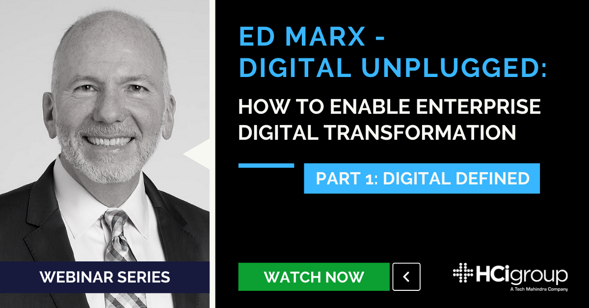 Webinar Series Launch - Digital Unplugged with Ed Marx