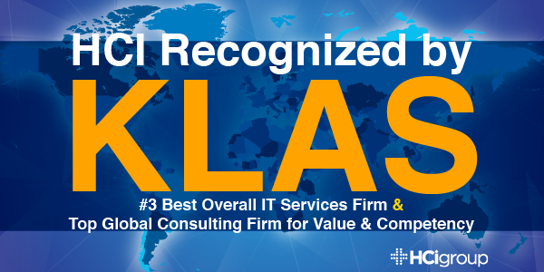 HCI Recognized as KLAS #3 Best Overall IT Services Firm & Top Global Consulting Firm for Value & Competency